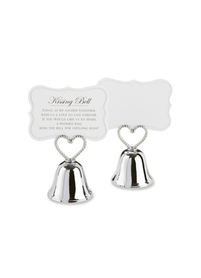 Kissing Bell Place Card Holder -  Set of 24 - Wedding Gifts & Decorations