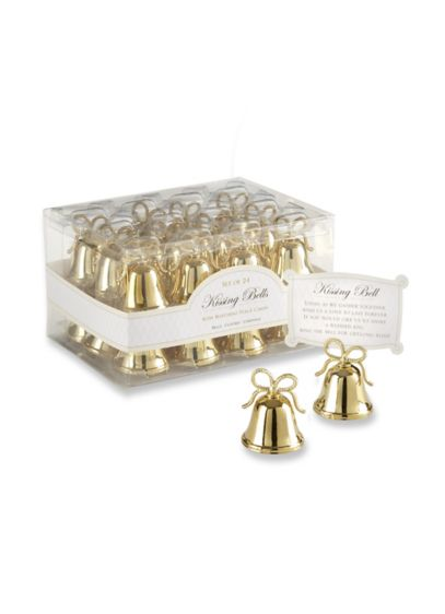 Gold Kissing Bells Place Card Holder Set of 24 - Wedding Gifts & Decorations