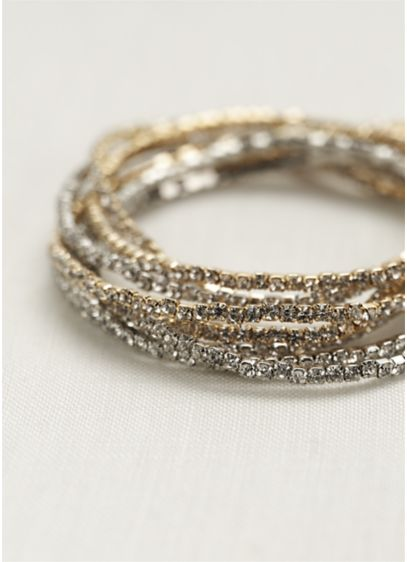 Stretch Crystal Multi Bracelet - Wedding Accessories