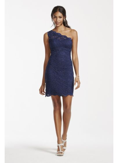 Short Sheath One Shoulder Cocktail and Party Dress - Morgan and Co