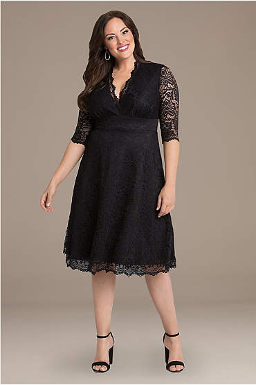 Mademoie Lace Plus Size Dress