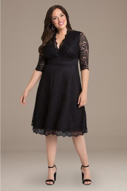 Mademoiselle Lace Plus Size Dress | David's Bridal