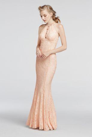 Halter Lace Prom Dress