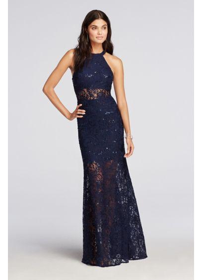 Long Sheath Halter Prom Dress - Morgan and Co