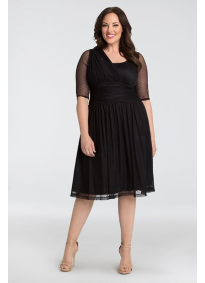 Long A-Line One Shoulder Cocktail and Party Dress - Kiyonna