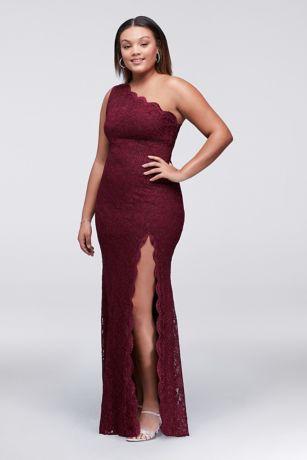 Cheap one shoulder plus size dresses