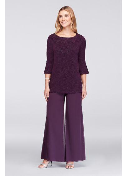 Long Jumpsuit 3/4 Sleeves Formal Dresses Dress - Alex Evenings
