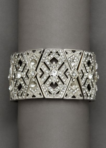 Bold Wide Crystal Stretch Bracelet 1263484