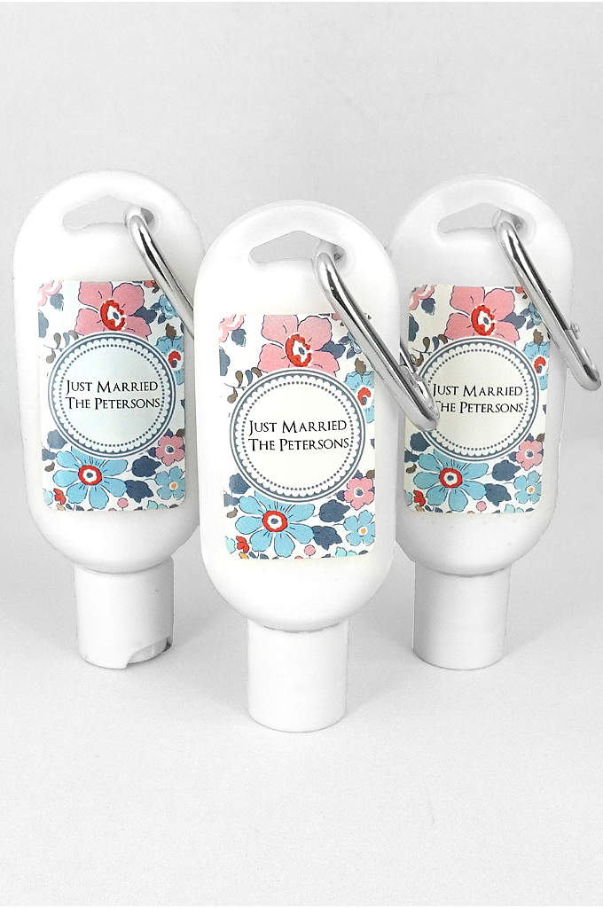 Personalized Floral Pattern Sunscreen - Offer your guests a reason to LOVE sun