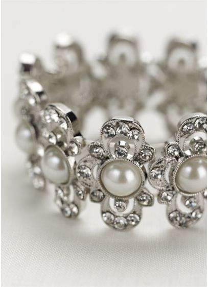 Bold Pearl Stretch Bracelet - Wedding Accessories