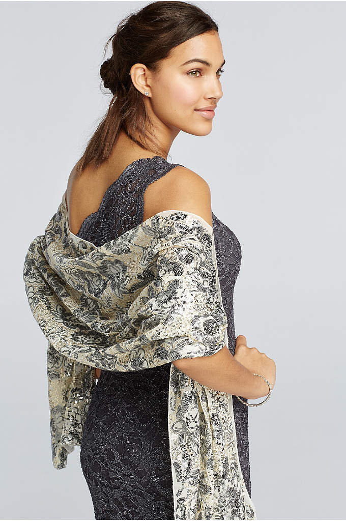 Rose Garden Shine Wrap - Transform your look from day to night with