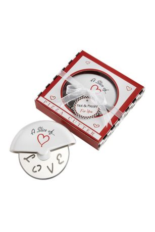 A Slice of Love Stainless Steel Pizza Cutter - No matter how you slice it, there's simply