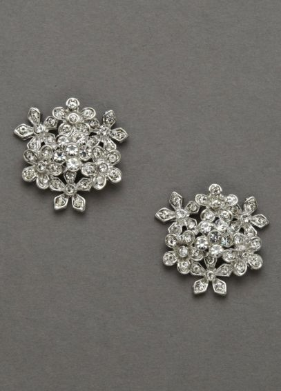 Crystal Flower Bouquet Earrings 130263EP