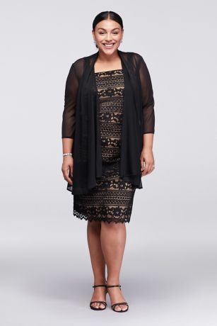 Black lace dress with jacket