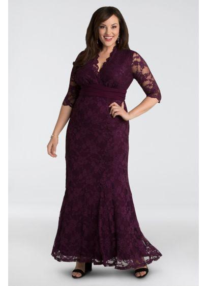 Long Mermaid/ Trumpet 3/4 Sleeves Formal Dresses Dress - Kiyonna