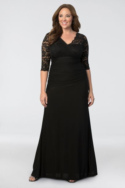 Soiree Plus Size Evening Gown David S Bridal