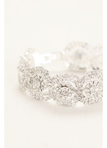Crystal Pave Circle Bracelet - Wedding Accessories