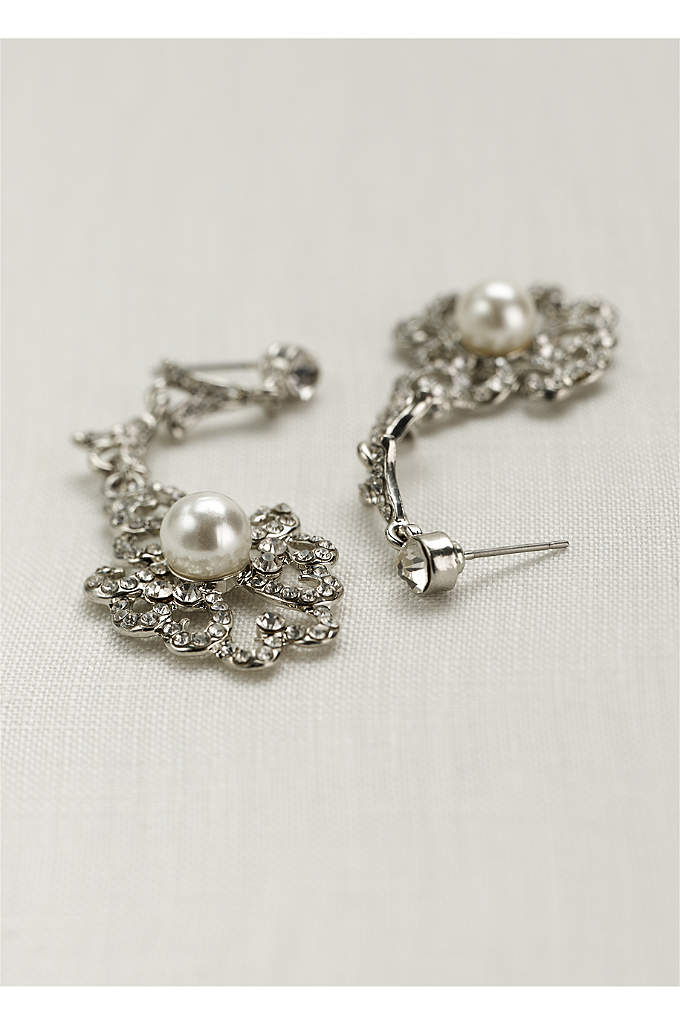 Vintage Pearl Drop Earrings - Inspired by the roaring twenties, these pearl earrings