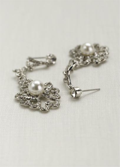 Vintage Pearl Drop Earrings 131785EP