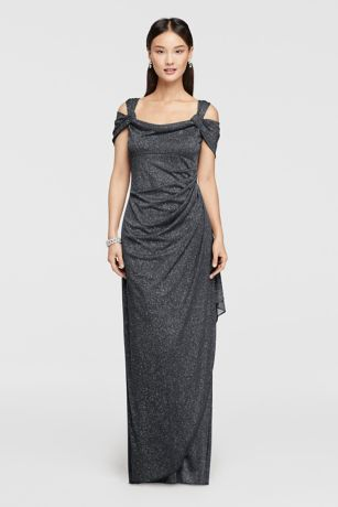 Mother of the bride dress style 133026 in smoke by David's Bridal