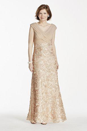 Sleeveless Jersey Dress with Soutache Skirt