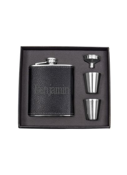 Personalized Leather Wrapped Flask Set - Wedding Gifts & Decorations