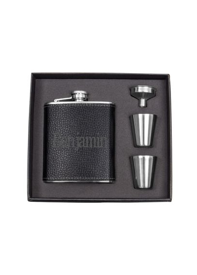 Personalized Leather Wrapped Flask Set 1343