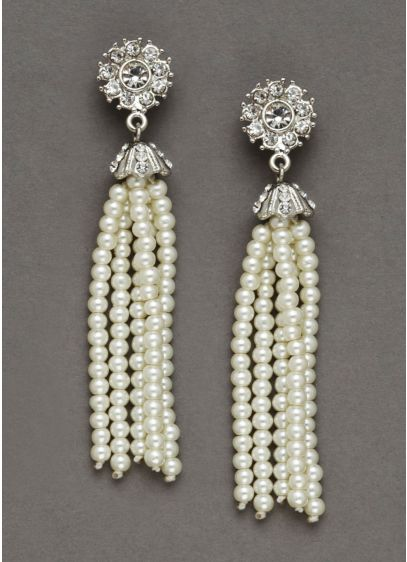 Pearl Tassel Earrings - Wedding Accessories