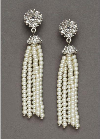 Pearl Tassel Earrings - Wedding Accessories