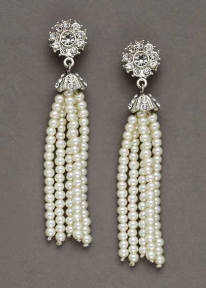 Pearl Tassel Earrings 134515EP