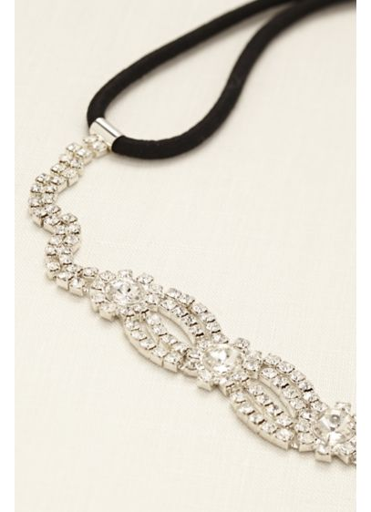 Scalloped Crystal Headband - Wedding Accessories