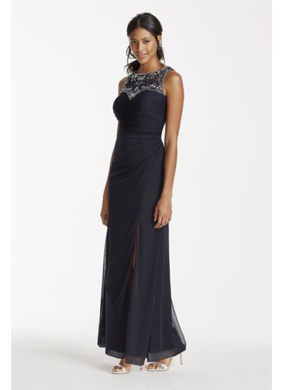 Long A-Line Tank Military Ball Dress - Patra