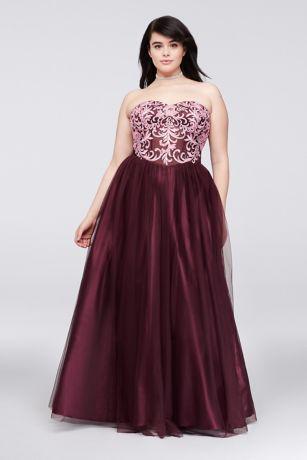 Plus Size Corset Prom Dresses