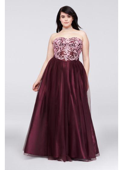 Long Ballgown Strapless Formal Dresses Dress - Blondie Nites