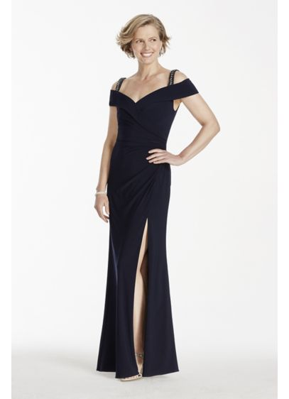 Long Sheath Cap Sleeves Prom Dress - Patra