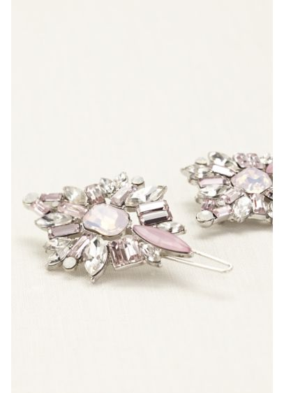 Set of Two Faceted Stone Clips - Wedding Accessories