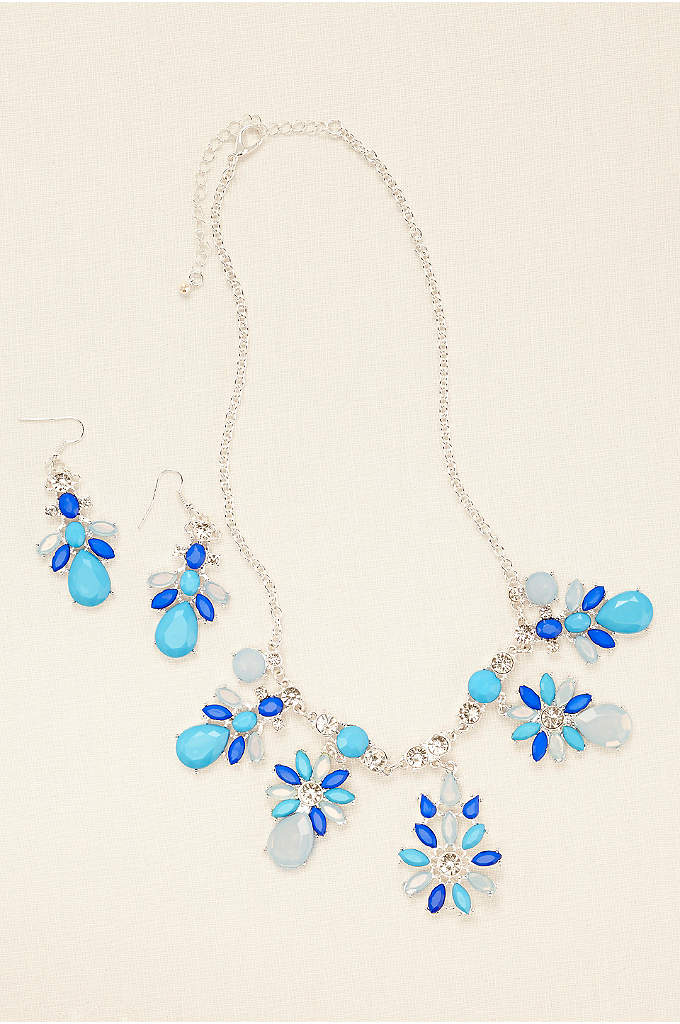 Lux Statement Necklace and Earring Set - Gorgeous and versatile, this on-trend lux statement accessory