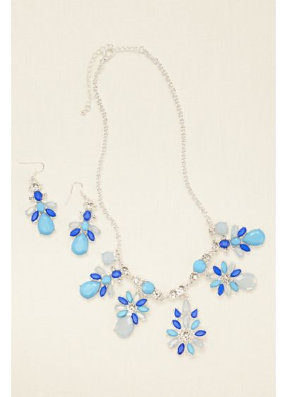 Lux Statement Necklace and Earring Set - Wedding Accessories