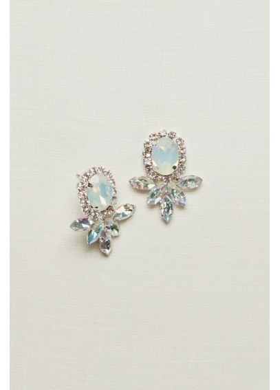 Faceted Large Statement Stud Earrings 140195EP