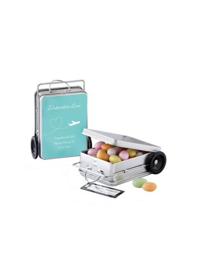 Personalized Suitcase Favor Tins Set of 12 - Wedding Gifts & Decorations