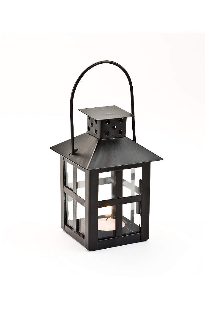 Black Mini-Lantern Tea Light Holder - Let your event bask in the glow of
