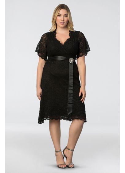 Short Sheath Short Sleeves Cocktail and Party Dress - Kiyonna