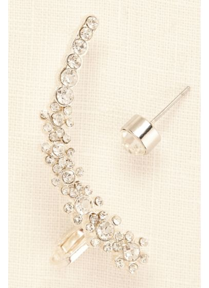 Six Flower Ear Cuff and Stud - Wedding Accessories