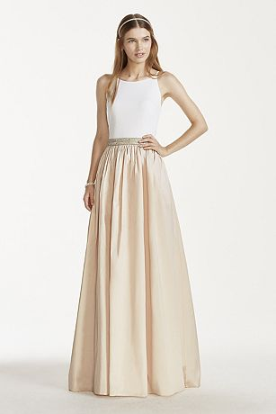 Tank Gown with Beaded Waistband and Ballgown Skirt