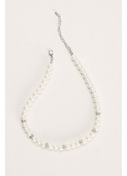 Pearl and Crystal Necklace - Wedding Accessories