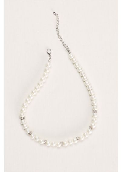 Pearl and Crystal Necklace 141879N