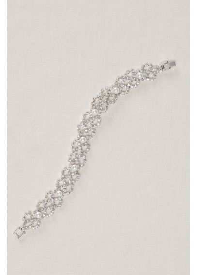 Pearl and Crystal Bracelet 143532B