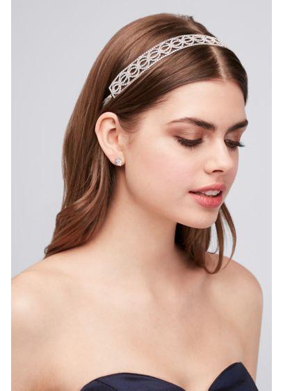 Crystal Circles Tie-Back Headband - Wedding Accessories