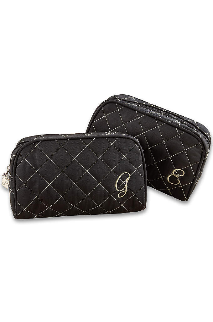 Personalized Quilted Make-Up Bag - As indispensable as make-up itself, a girl's make-up