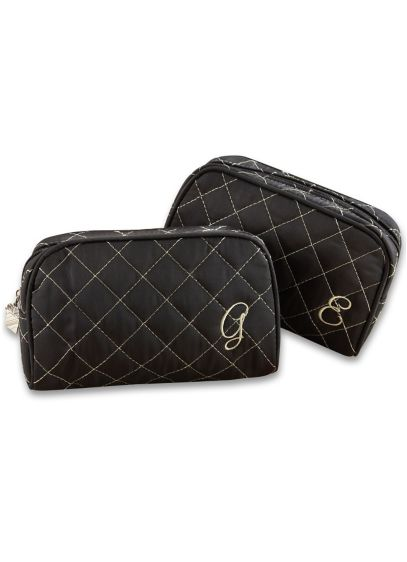 Personalized Quilted Make-Up Bag - Wedding Gifts & Decorations
